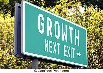 Growth - next exit sign