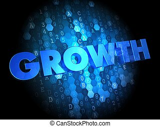 Growth on Digital Background.