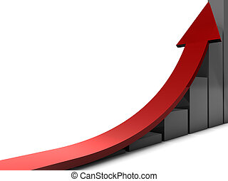 Growth - Picture with bars and and arrow to symbolize the...