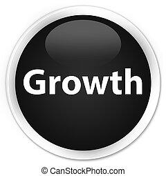 Growth premium black round button