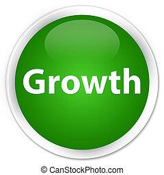 Growth premium green round button
