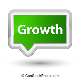 Growth prime green banner button