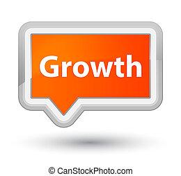 Growth prime orange banner button