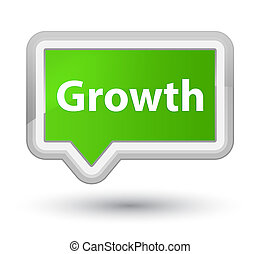 Growth prime soft green banner button