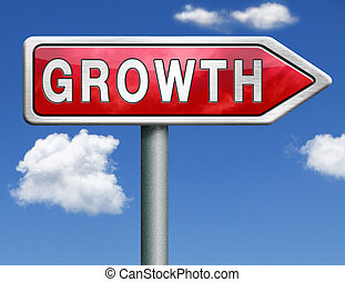 growth road sign arrow