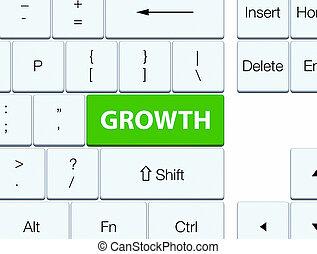 Growth soft green keyboard button