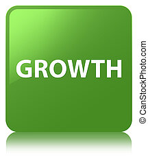Growth soft green square button