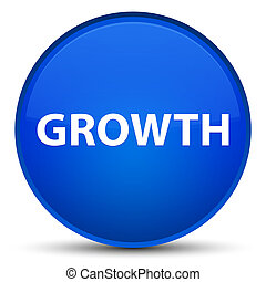 Growth special blue round button