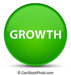 Growth special green round button