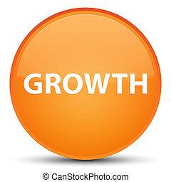 Growth special orange round button