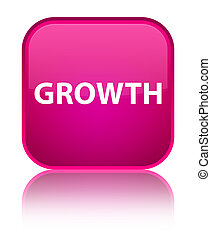 Growth special pink square button