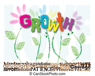 Growth - Typography illustration fetauring key words related...