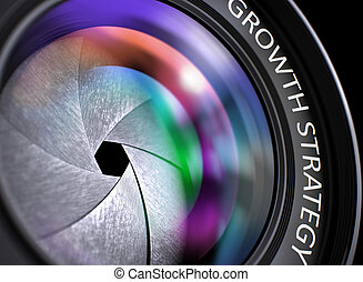 Growth Strategy on Digital Camera Lens . Closeup.