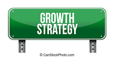 Growth Strategy road sign illustration