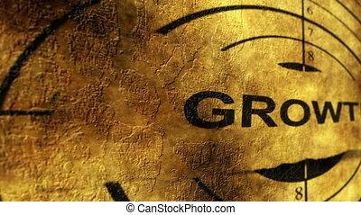 Growth target grunge concept