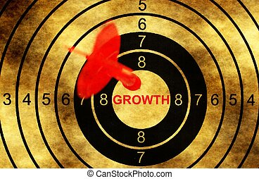 Growth target on grunge background