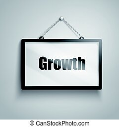 growth text sign