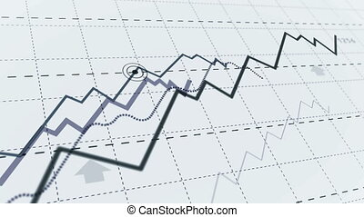 Growth up stock markets simple chart