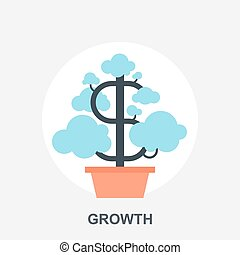 Growth - Vector illustration of growth flat design concept.