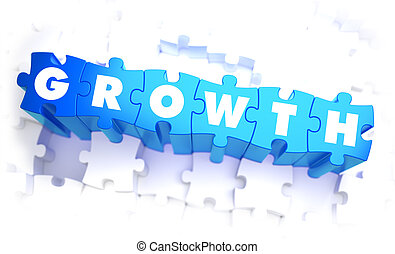 Growth - Word in Blue Color on Volume Puzzle.