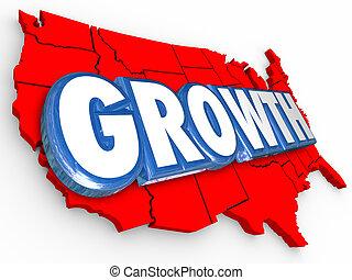 Growth Word United States America Increase Population Economy Im