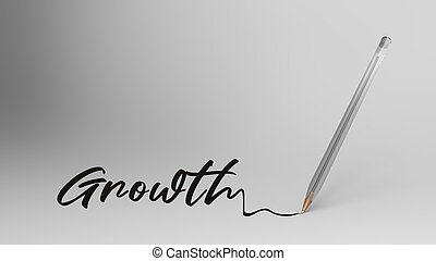 Growth word written with calligraphy with Transparent ...