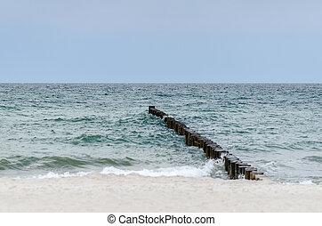 groynes in the baltic sea