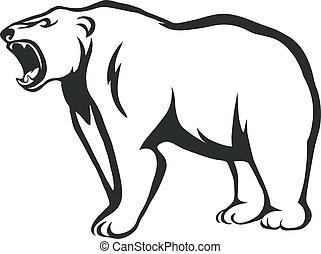 gruñir, oso