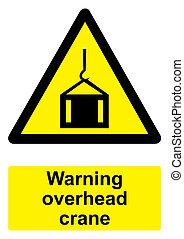 gru, -, avvertimento, nero, alto, fondo, isolato, segno, bianco, giallo