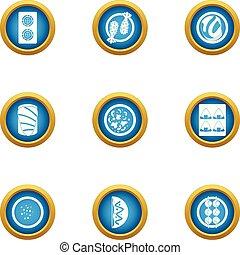 Grub icons set, flat style - Grub icons set. Flat set of 9...