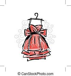 grucce, vestire, schizzo, disegno, tuo