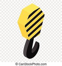 grue, 3d, isométrique, icône