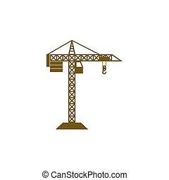 grue bâtiment, construction, icône