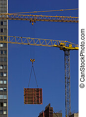 grue, construction, levage