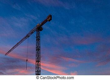 grue, construction, tour