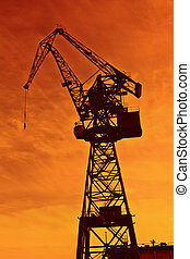 grue, industrie construction