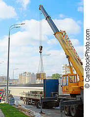 grue mobile, camion