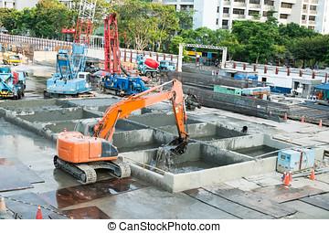 grue, site construction, fonctionnement