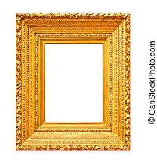 grueso, masivo, oro, marco