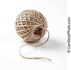 grueso, pelota, cuerda