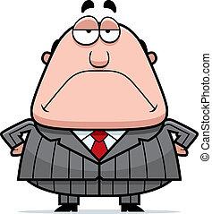 Grumpy Boss - A cartoon boss with a grumpy expression.