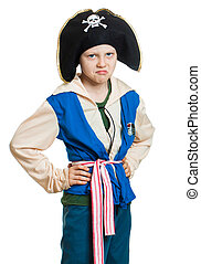 Grumpy boy pirate