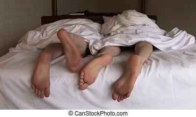 Grumpy Feet in Bed