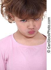 Grumpy little girl