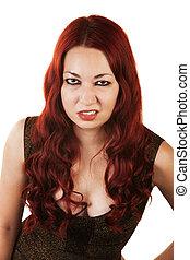 Grumpy Woman Sneering