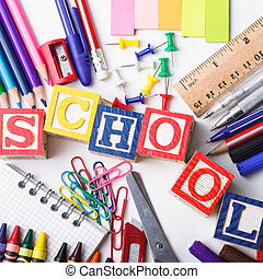 grundschule, schreibwaren