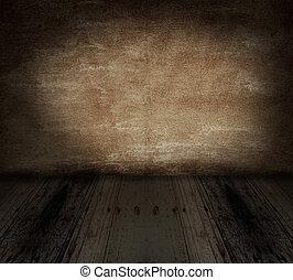 gruneg, parete, e, pavimento