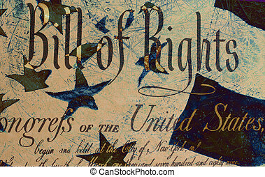 Grung Bill of Rights - Grunge Style Background With Bill of...