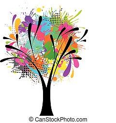 grunge, árbol