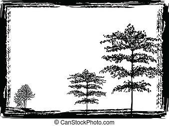 grunge, árboles